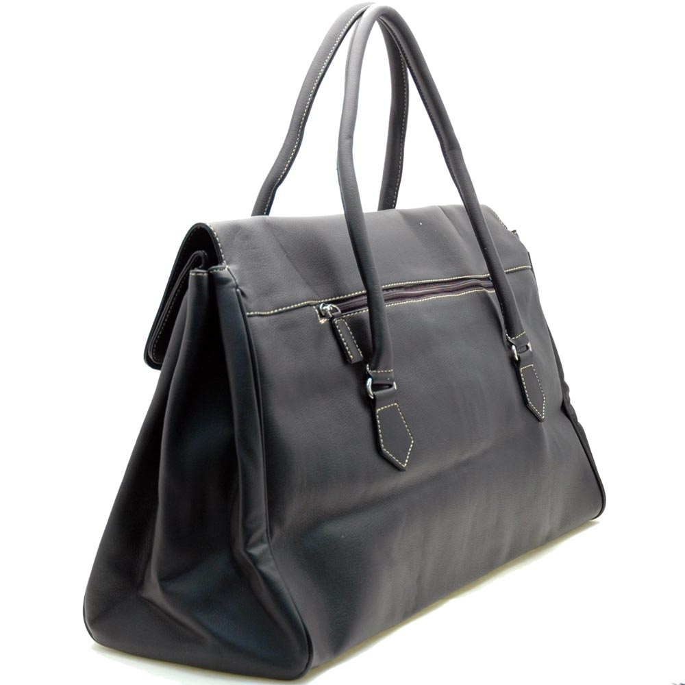 Dasein women soft duffel carry on luggage bag - Black
