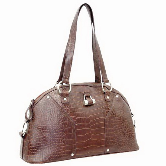 Textured Alligator   Shoulder Bag