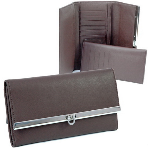 Dasein Plain Fold Over Flap Checkbook Wallet