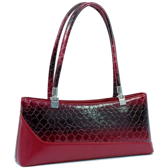 Dasein Esserpenti® Slant Snakeskin Edge Shoulder Bag