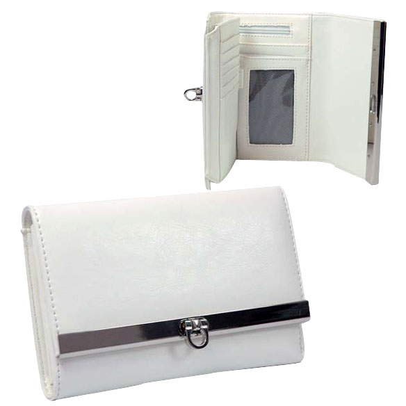 Dasein Plain Fold Over Flap with Flip Clasp Wallet