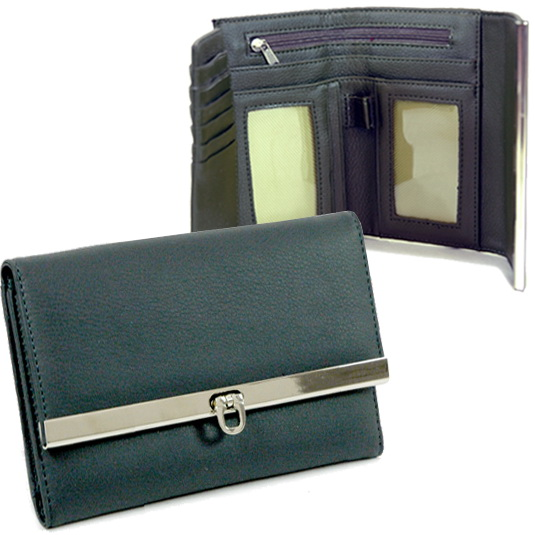 Dasein Plain Fold Over Flap Wallet