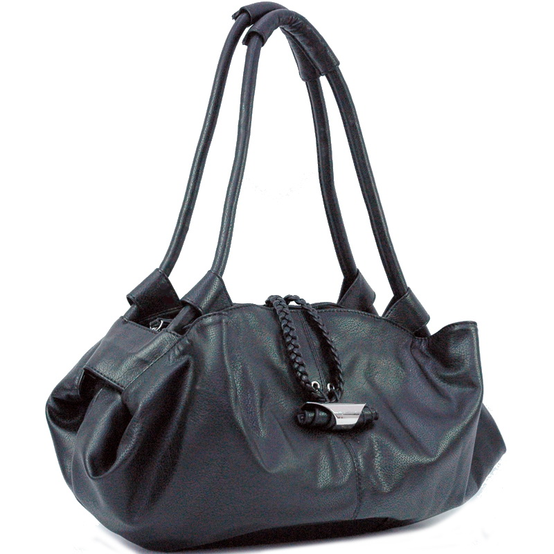 Dasein Soft Zip Top Shoulder Bag