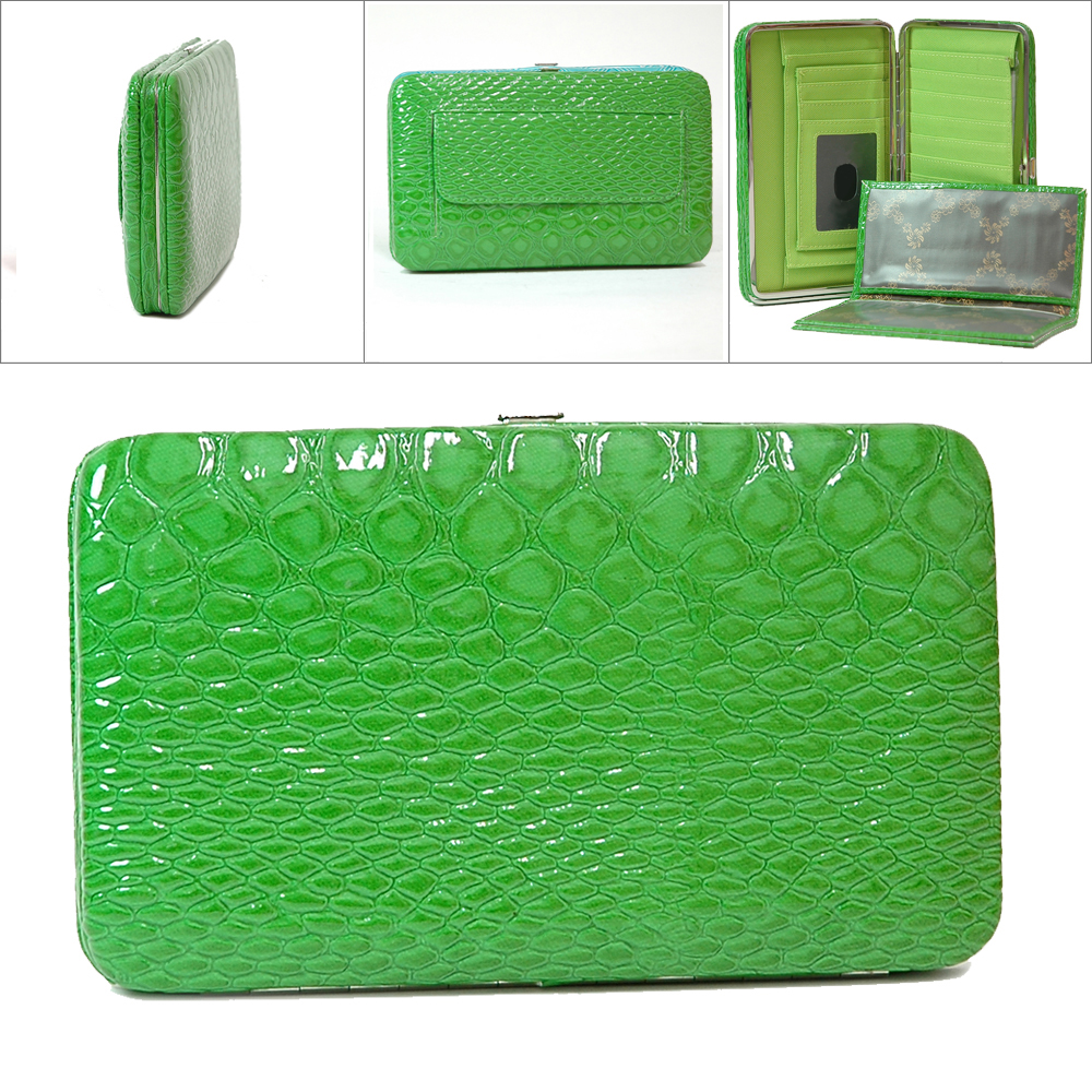 Dasein Esserpenti® Push Lock Closure Frame Wallet