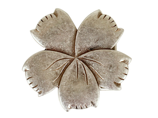 5 petal flower belt buckle