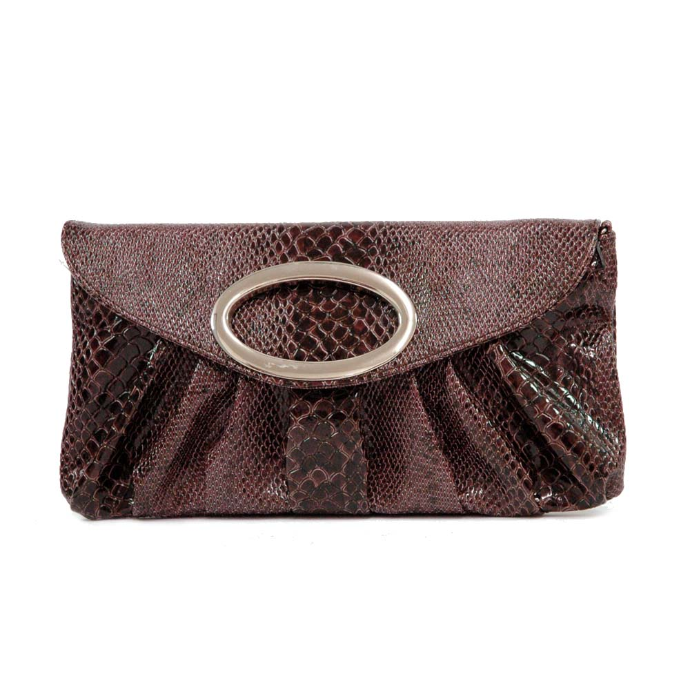 Python Skin Embossed Evening Bag