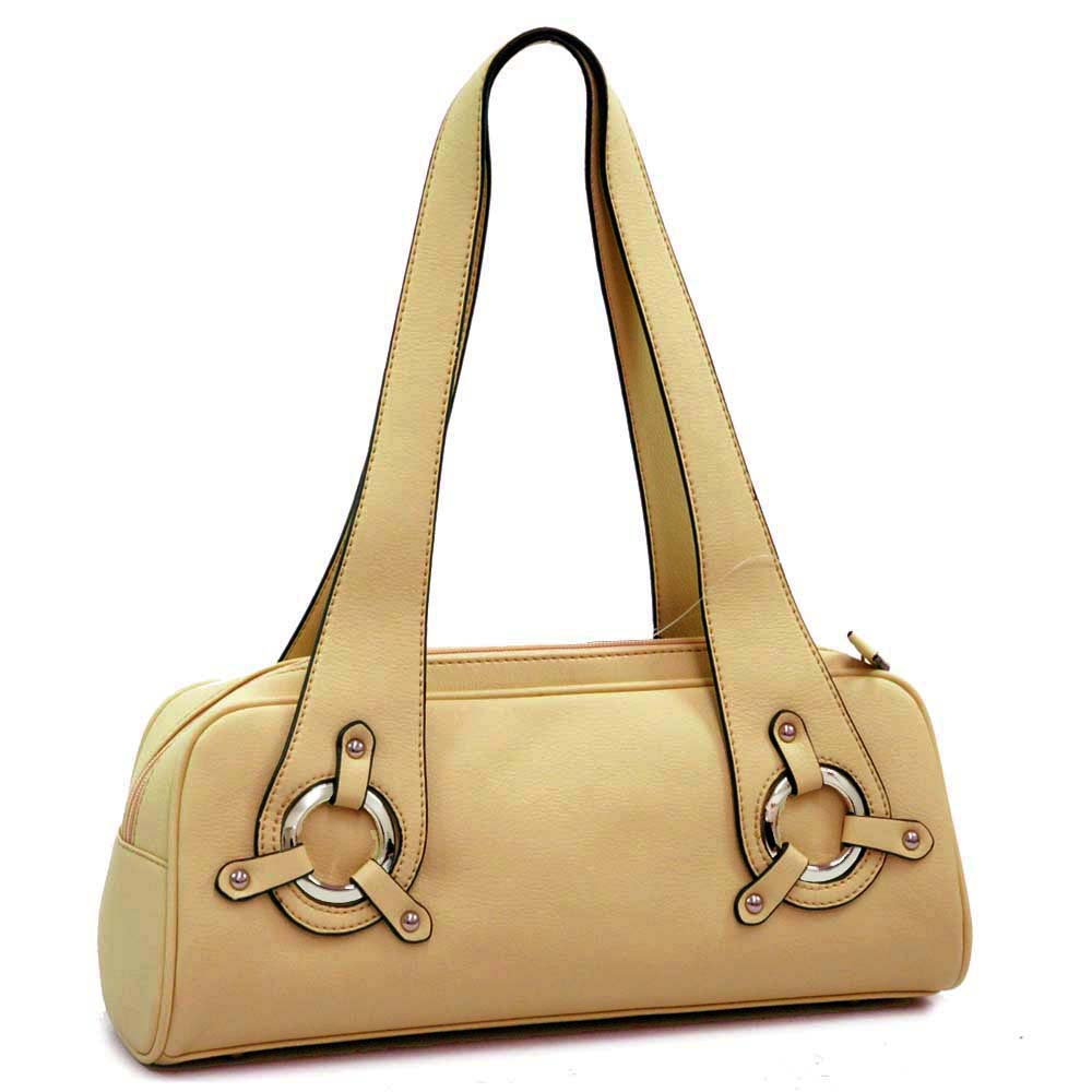 Dasein Elegant Designer Inspired Soft Shoulder Bag - Tan