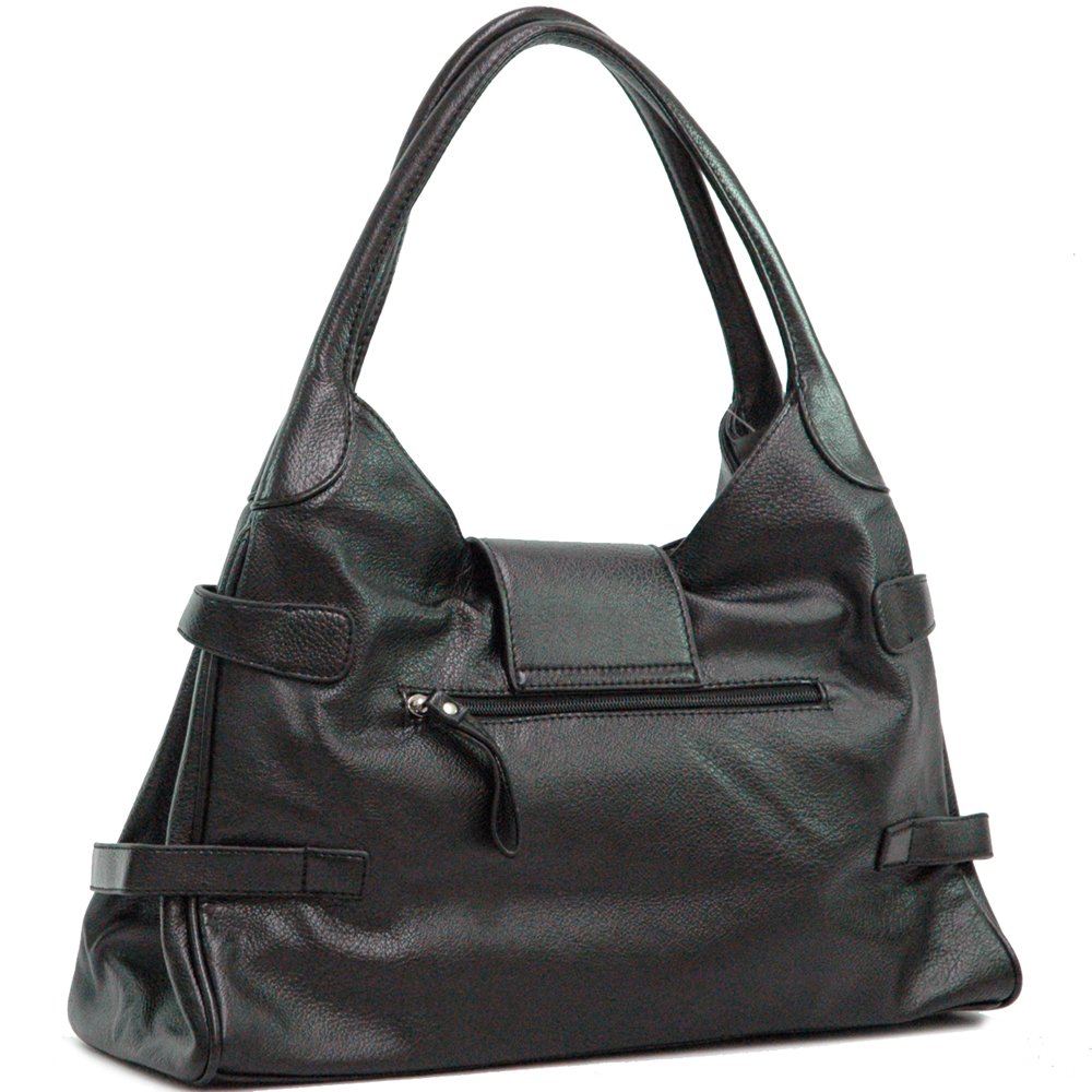 Hobo bag with front flap
