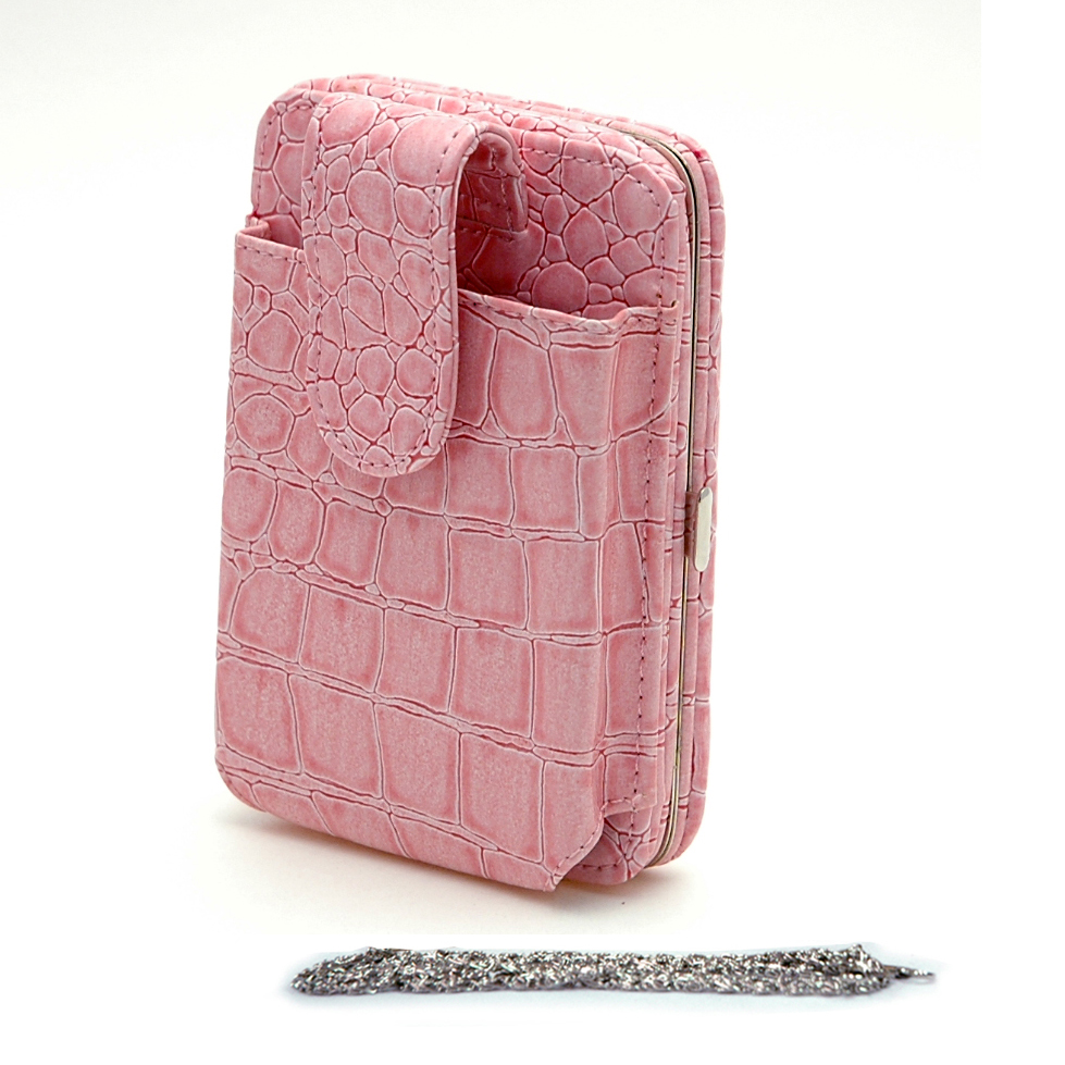 Country Road Snake Skin Embossed Cellphone / Ipod / Iphone Holder Frame Wallet - Pink