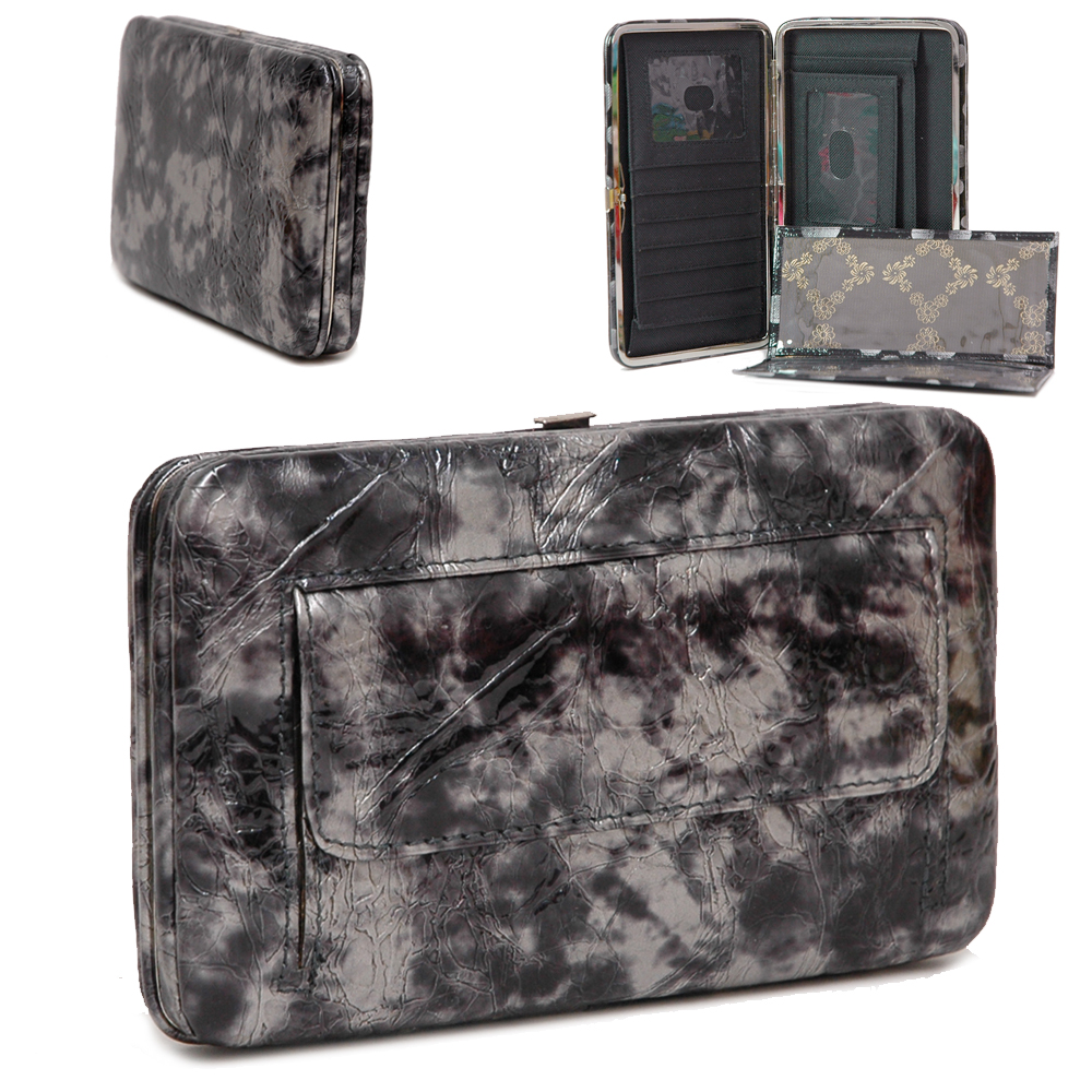 County Road Textured Extra Deep Metal Frame Wallet