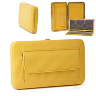 Country Road Solid Color Extra Deep Metal Frame Wallet - Yellow