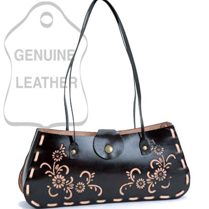 Dasein Plain Flower Printed Flip Flap Accented Shoulder Bag - Black