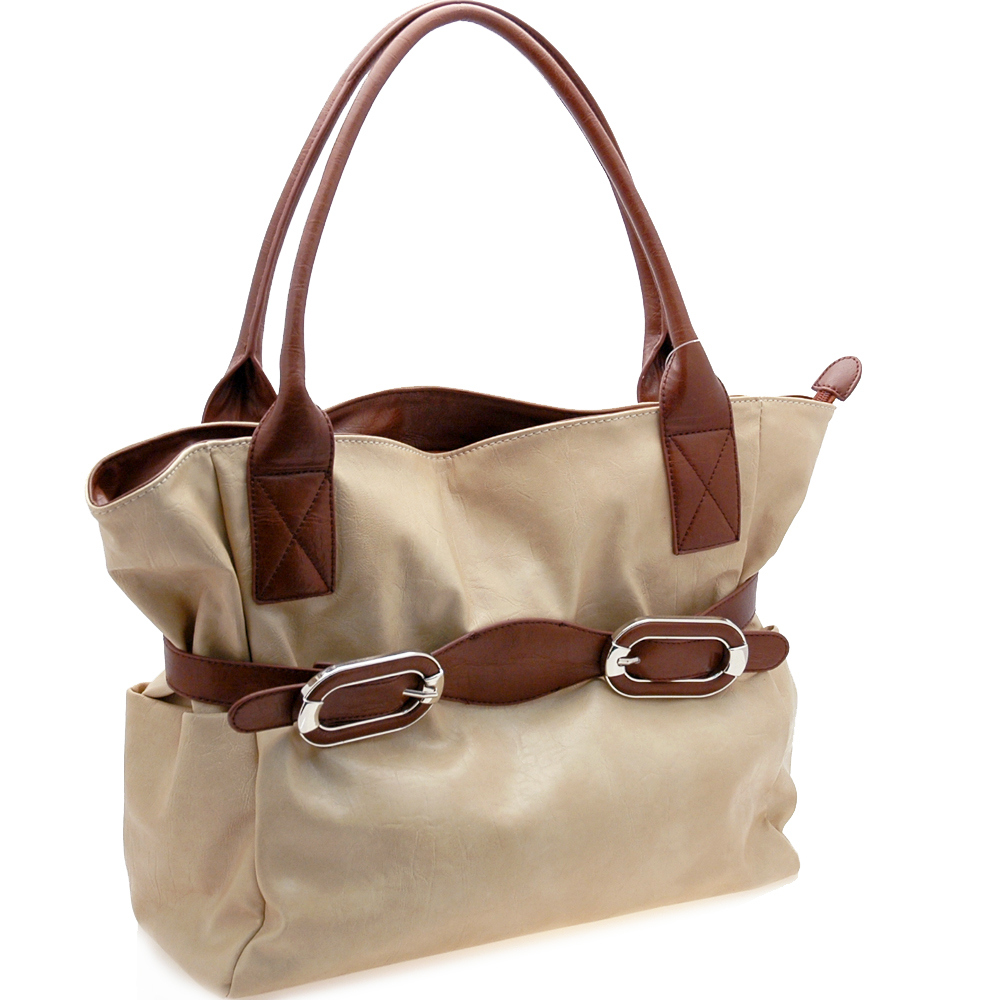 Fashionable belt front shoulder bag