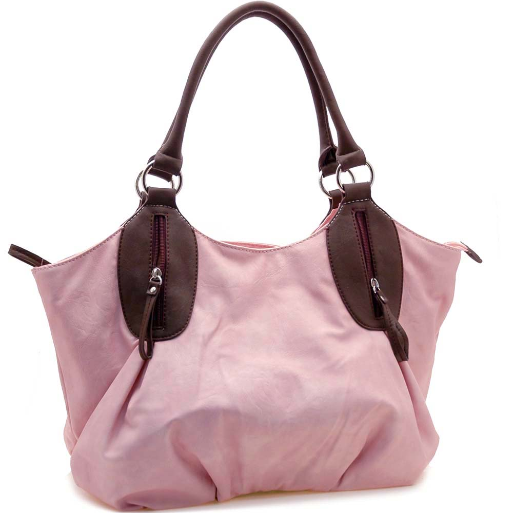 Dasein 2 Tone Designer Inspired Shoulder Bag