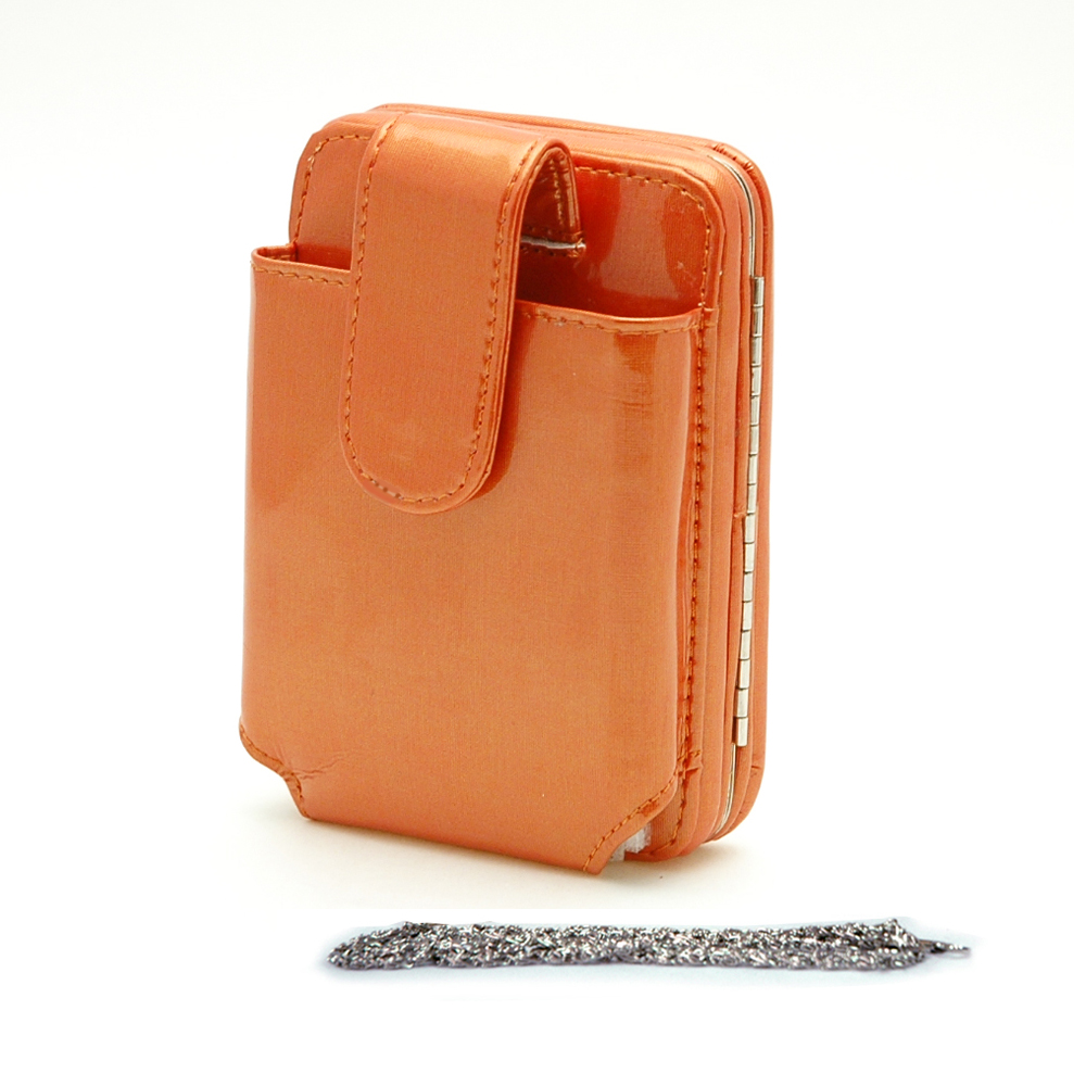 Cellphone IPhone Ipod case bag frame wallet orange