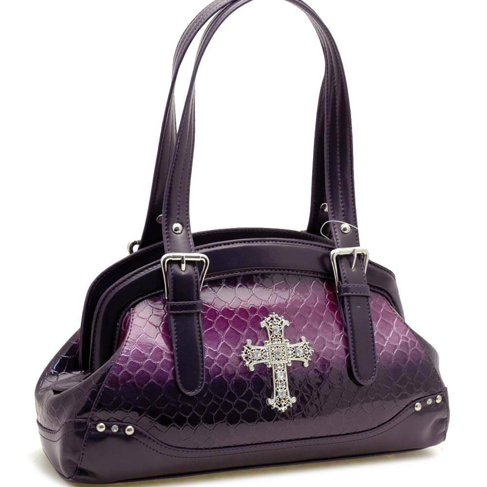 Dasein Esserpenti® Rhinestone Cross Dumpling Shoulder Bag
