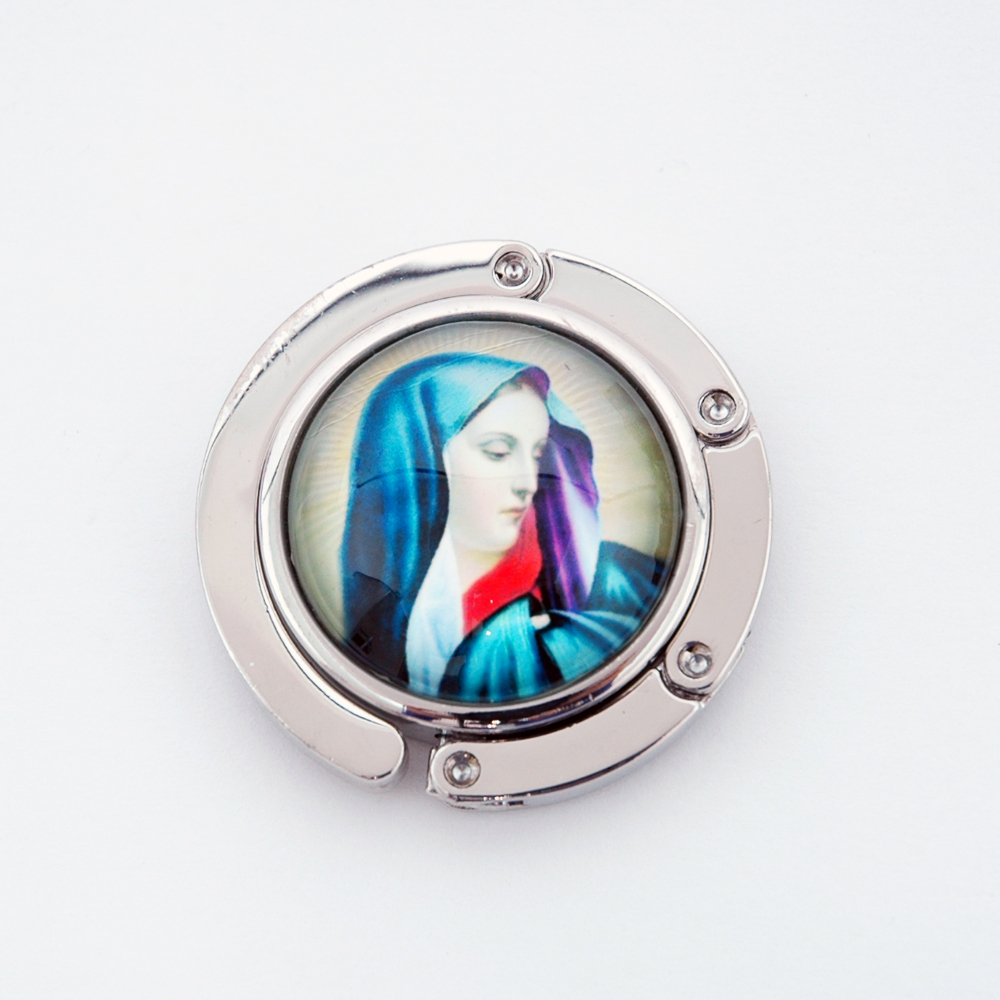 Mary Christianity Foldable Purse Hanger