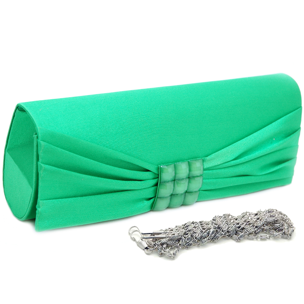 Square Studded Rhinestone Jewel Evening Bag