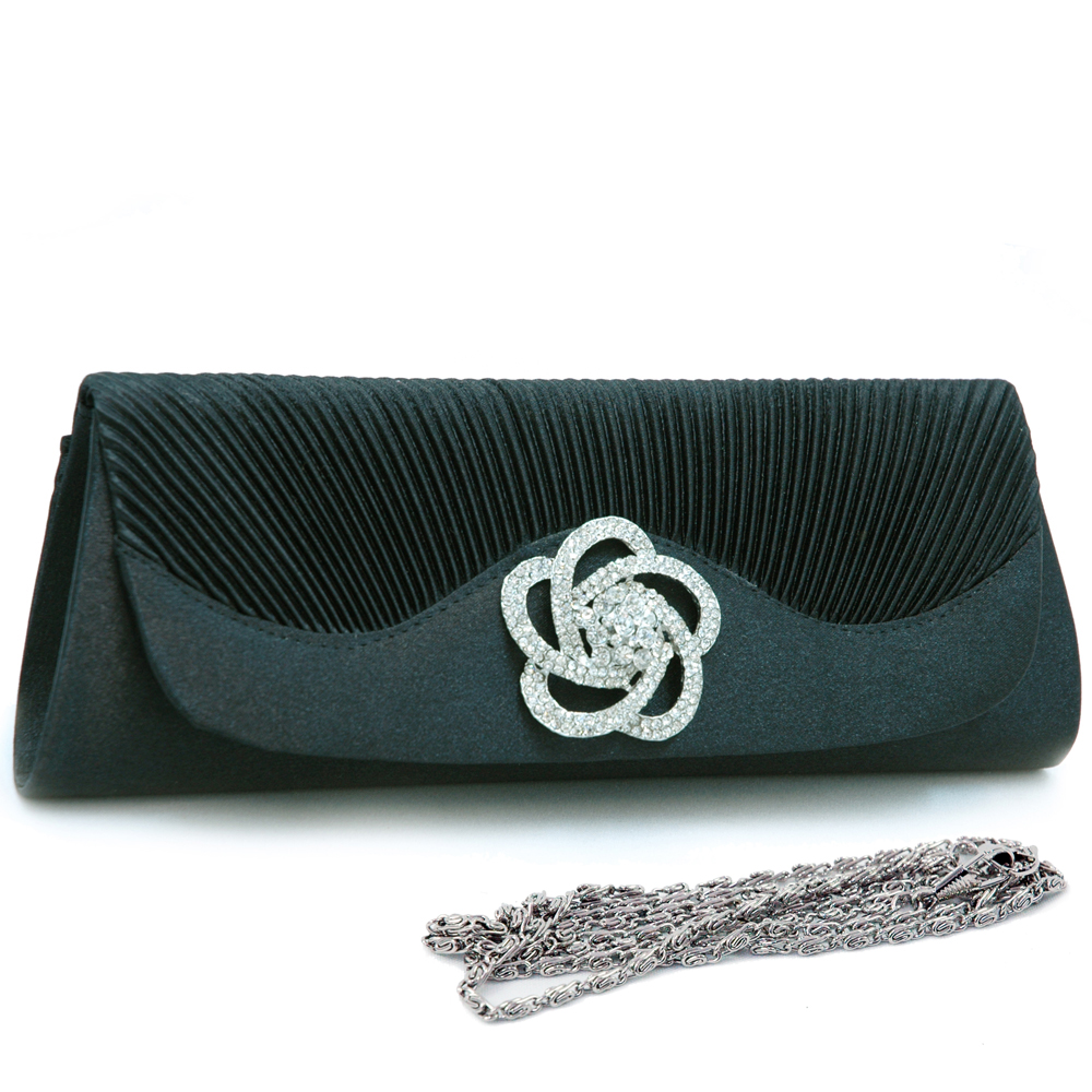 Floral Rhinestone Jewel Evening Bag