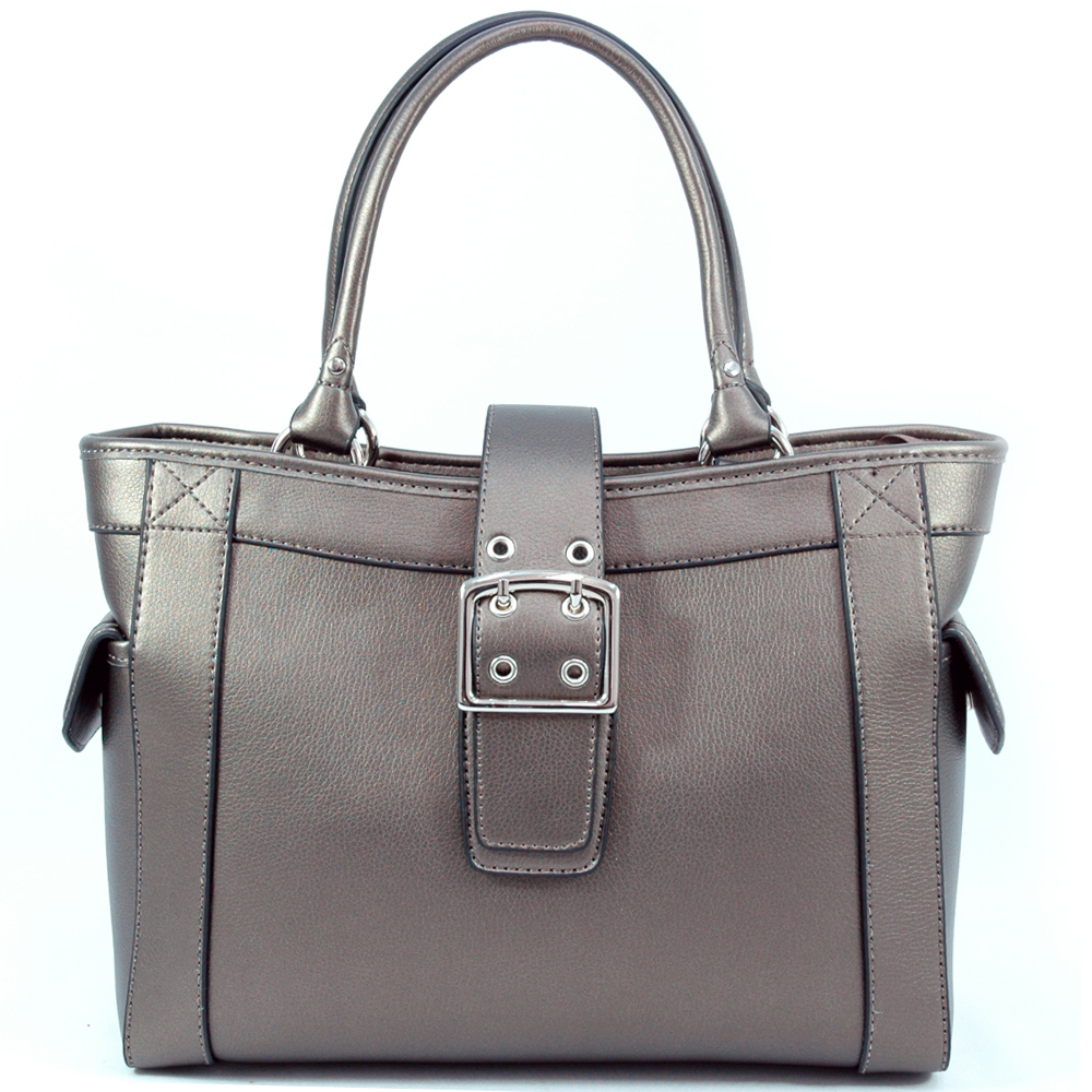 Dasein Designer Inspired Shoulder Bag with Chic Buckle Accent