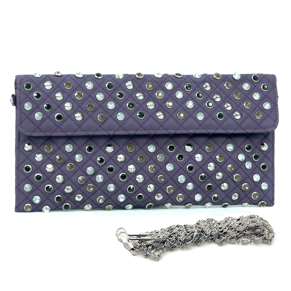 Dasein® Faux Leather Studded Clutch