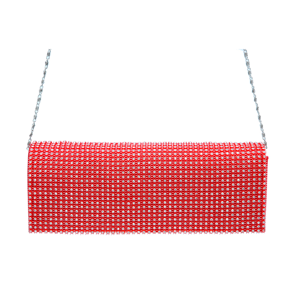 Rhinestone Grid Evening Bag