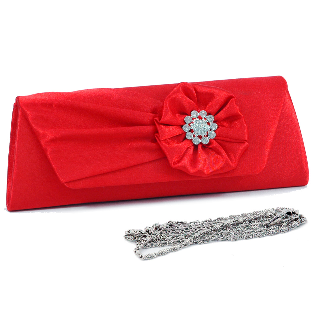 Rhinestone Flower Clutch