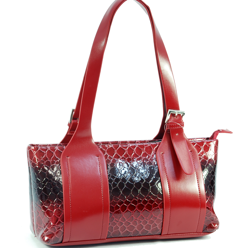 Fashlets Generic Full Strapped Snakeskin Shoulder Bag