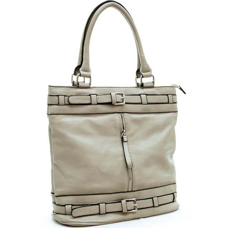 Dasein buckle accented hobo bag with front pocket