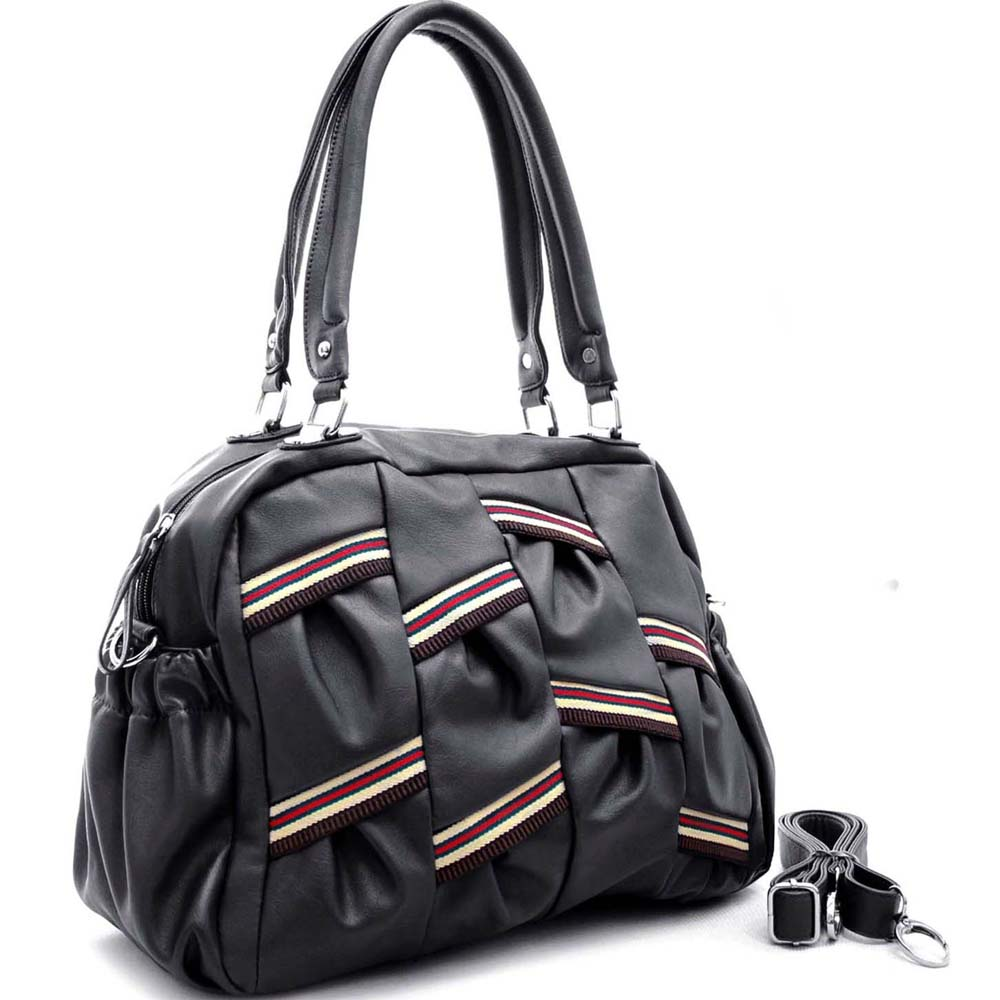 Multi Color Strip Shoulder Bag with Shoulder Strap