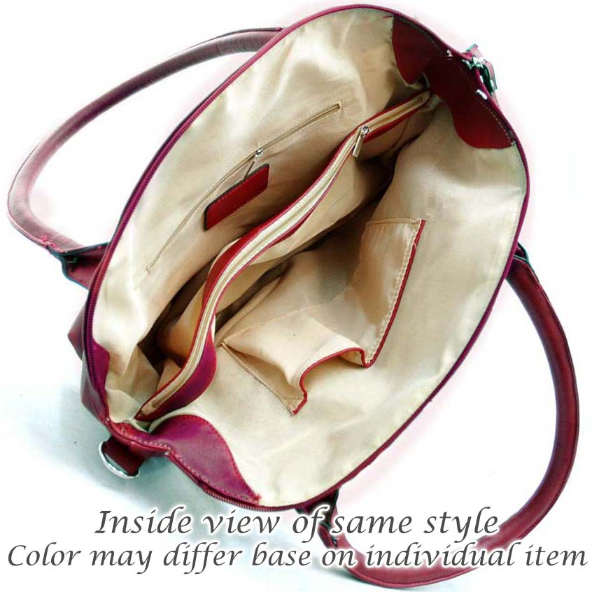 Dasein® Designer Inspired Striped Accent Shoulder Bag
