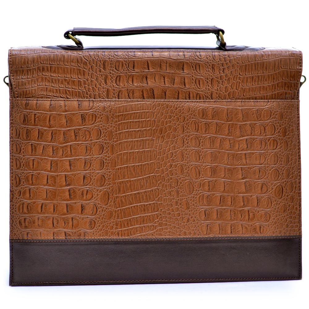 2013 new Croco embossed lady's briefcase Bronze