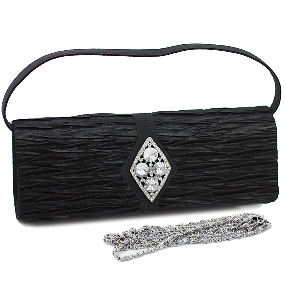 Rhinestone Diamond Brooch Evening Bag