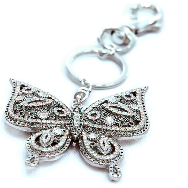 Dasein New Rhinestone Butterfly Key Chain - As pictured