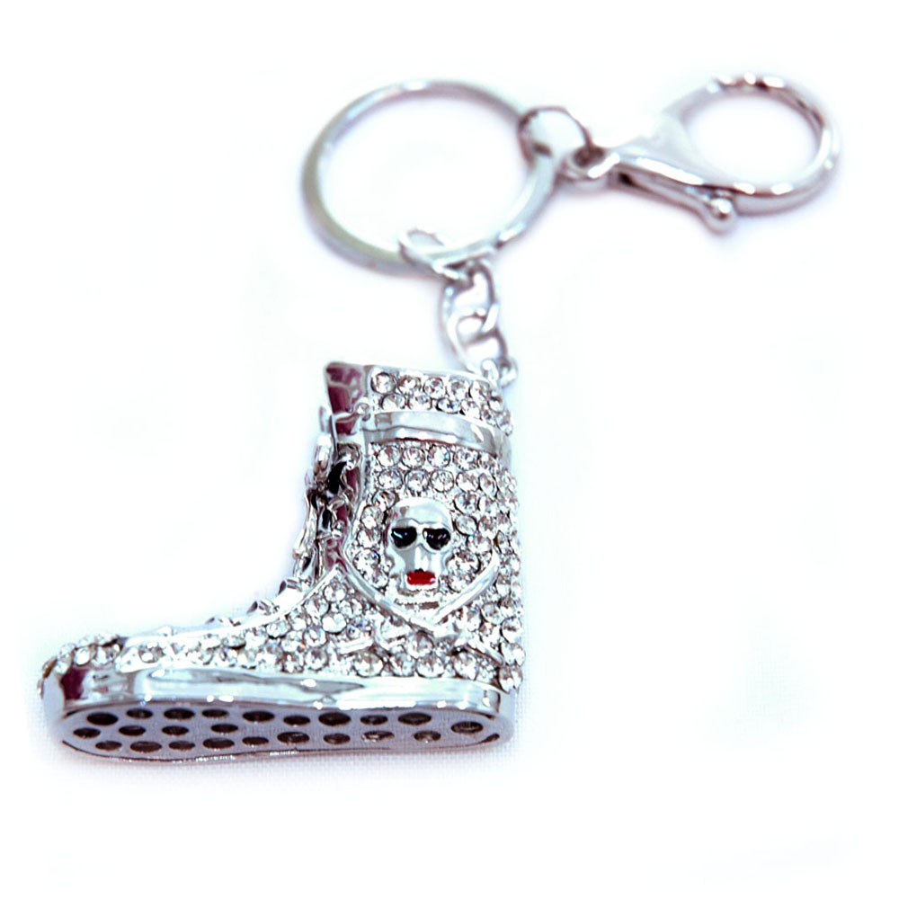 Rhinestone sneaker/ shoe key chain