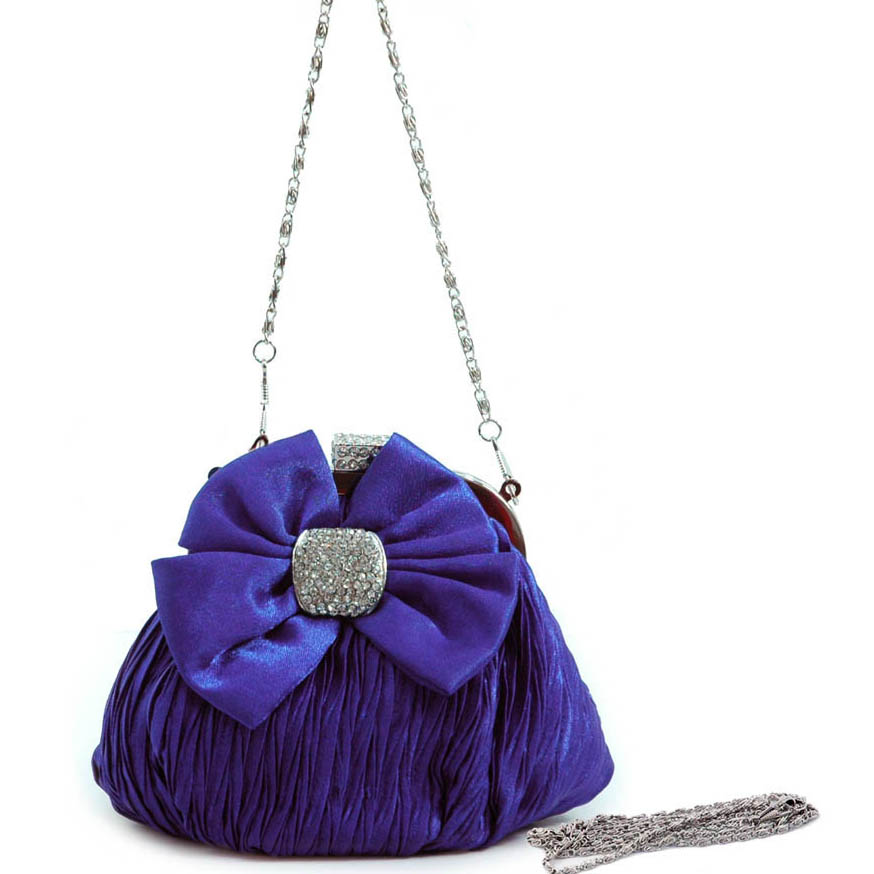Rhinestone Bow Tie Evening Bag