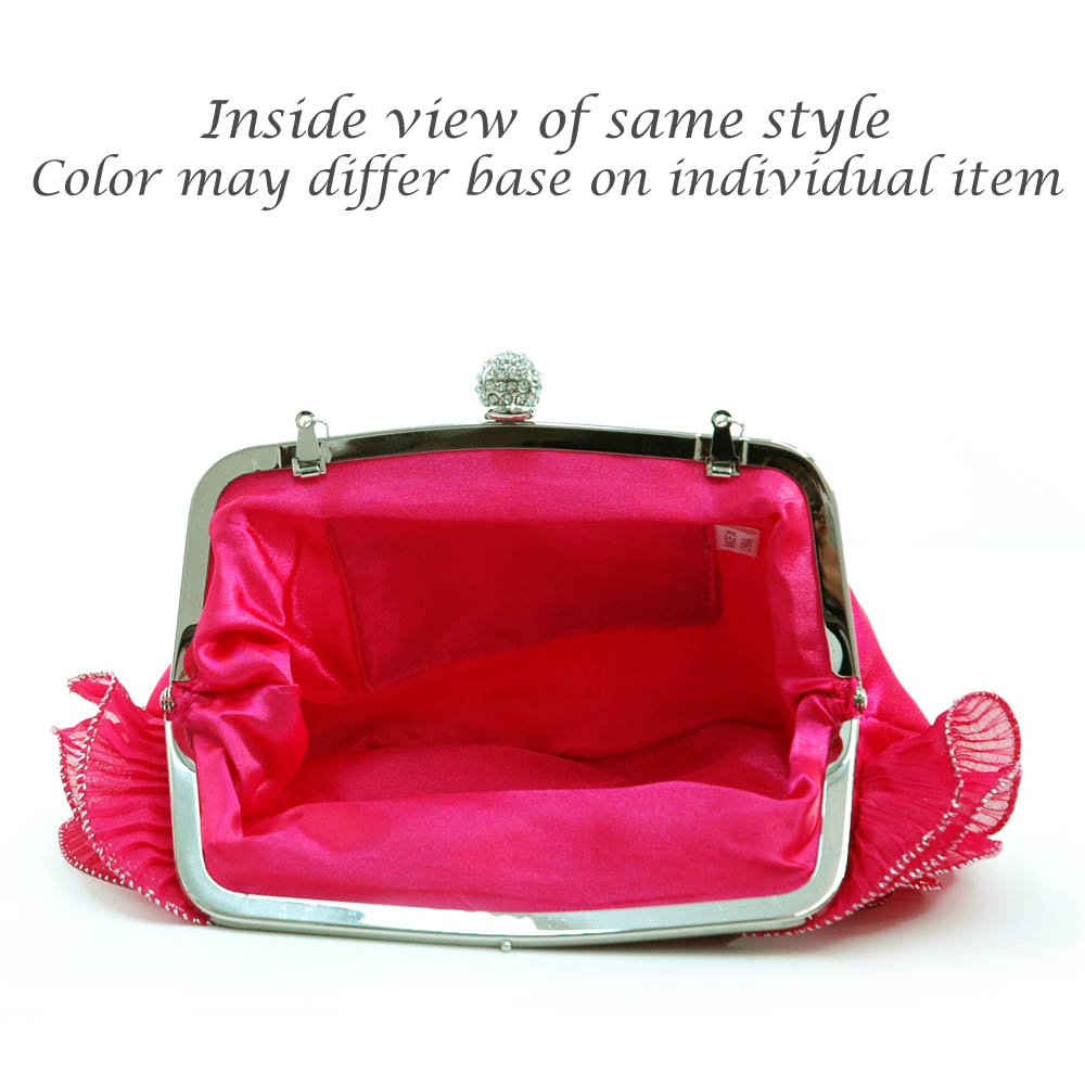 Chain Handle Rosette Evening Bag