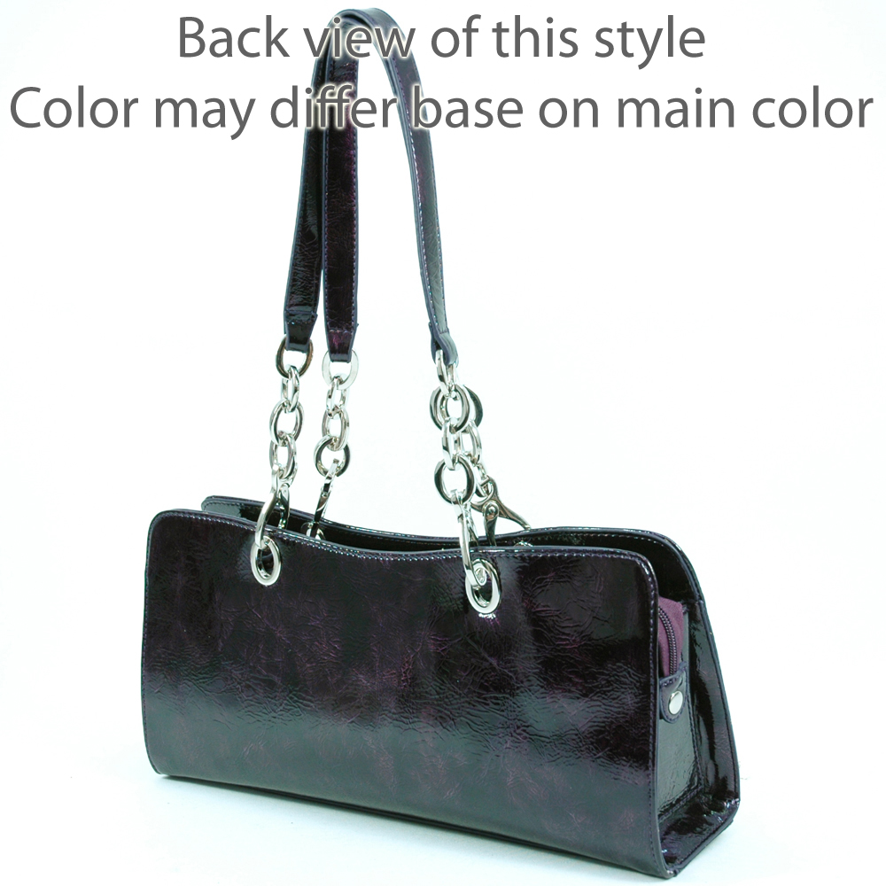 Dasein shiny shoulder bag with chain Multi Color