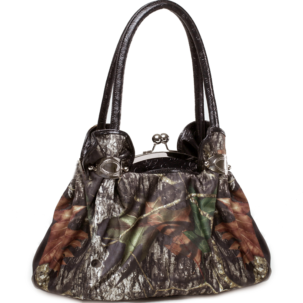 Mossy Oak® Arctic Camo Kiss-Lock Cuffed Satchel