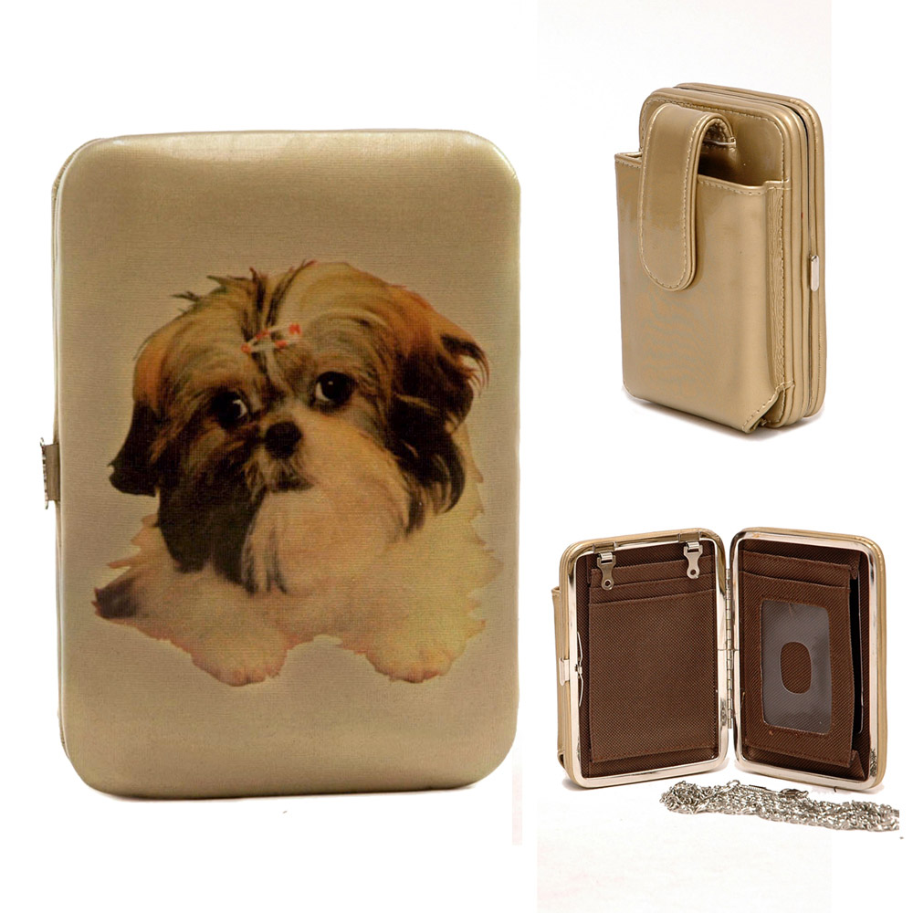 Shih Tzu Dog Print Cell Phone Holder / Frame Wallet
