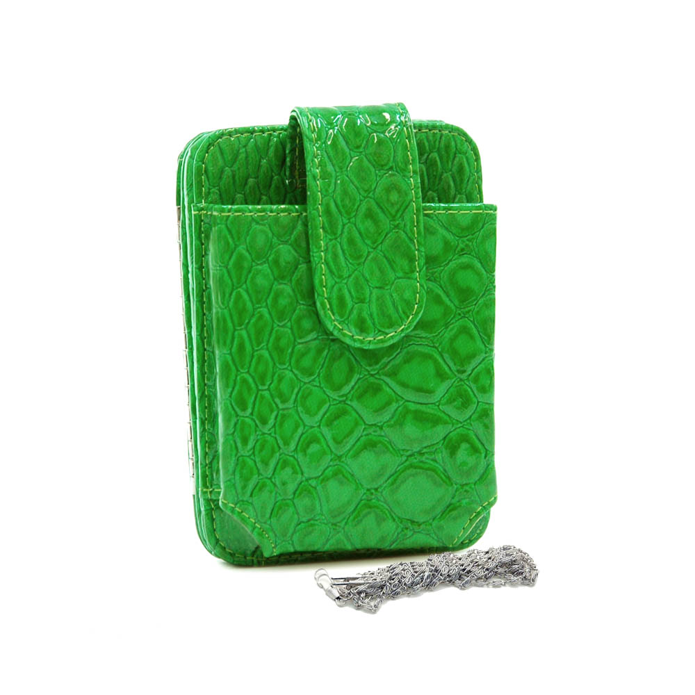 Python snake skin embossed cell phone holder/ frame wallet