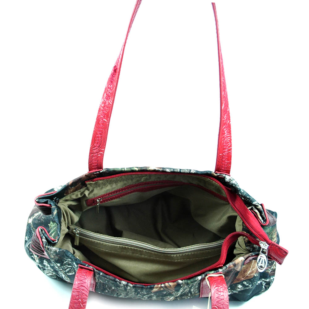 Mossy Oak® Infinity Camo Woven Tote with Floral Trim