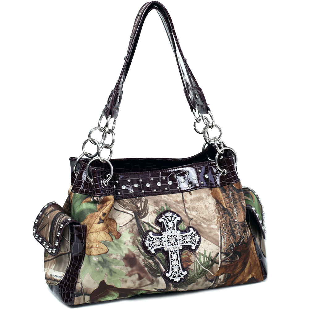 Realtree® APG Camo Rhinestone Cross Shoulder Bag