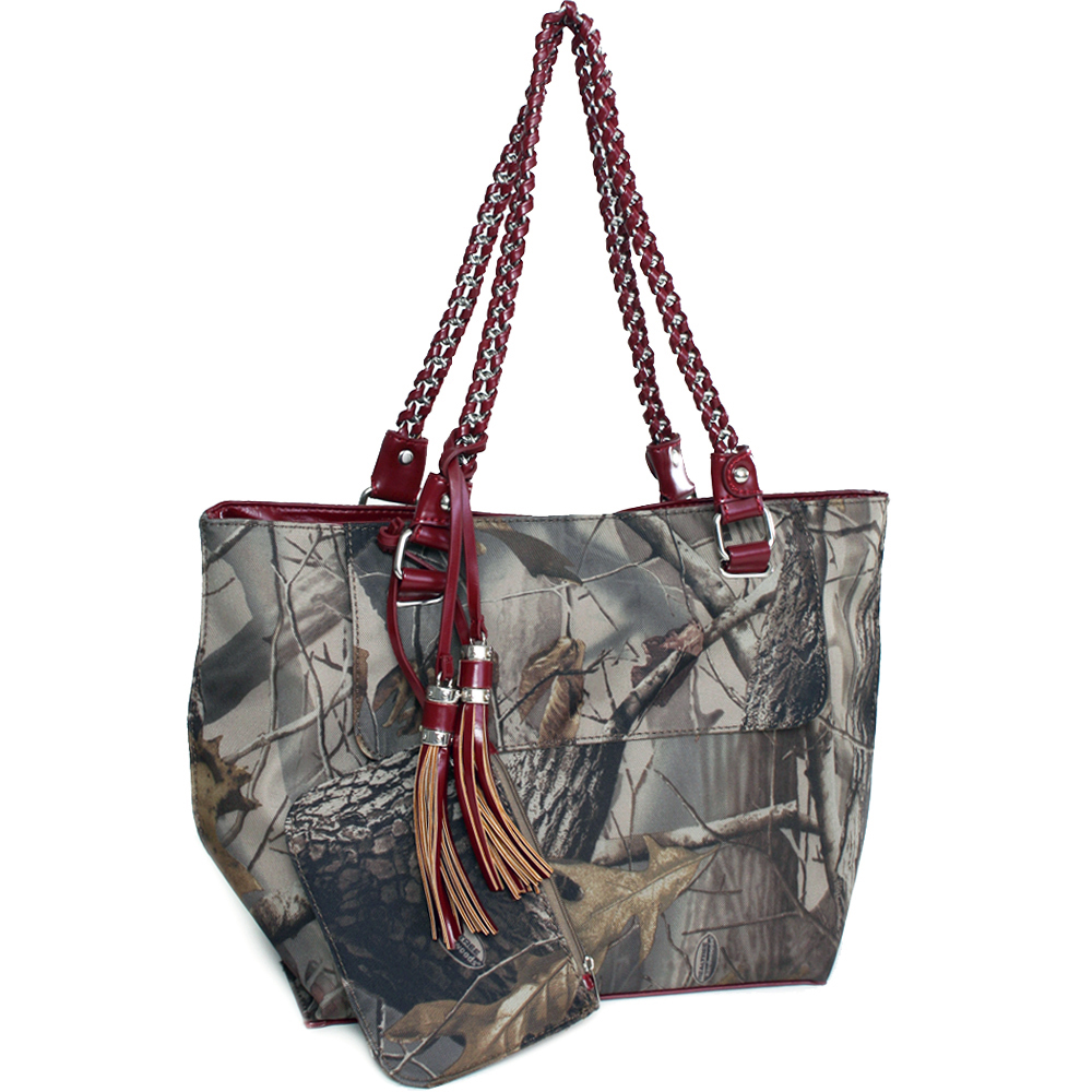 Realtree® Hardwoods HD Camo Medium Chain Handle Tote With Coin Purse