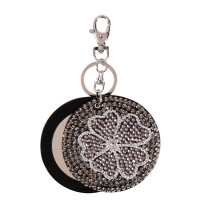 Flower mirror key chain