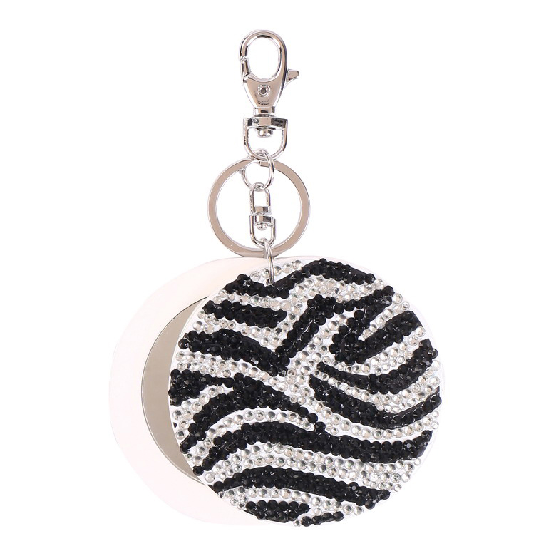 Zebra mirror key chain