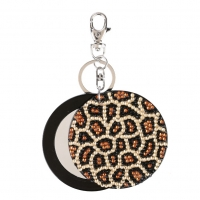 Leopard mirror key chain