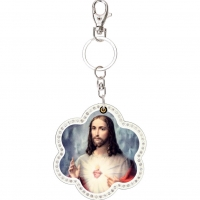 Jesus mirror key chain