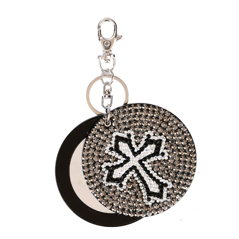 Cross mirror key chain