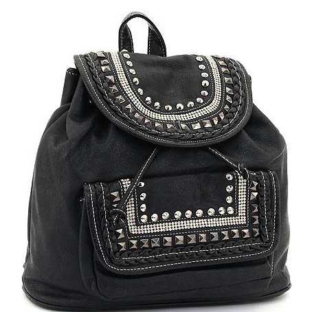 Mini studded Fashion Backpack for School
